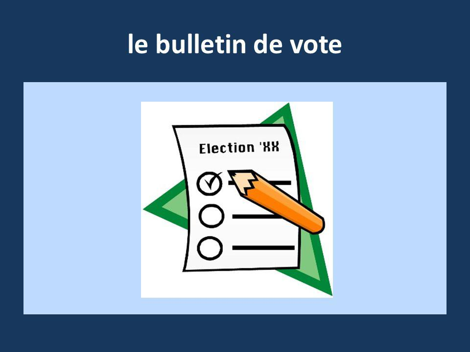 le bulletin de vote