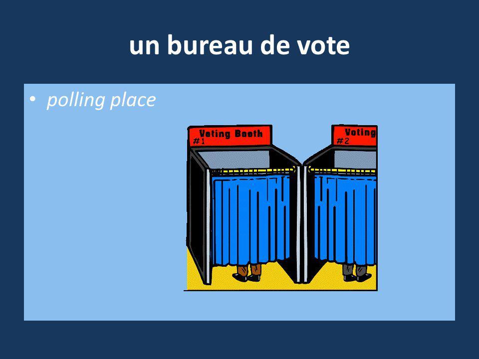 un bureau de vote polling place