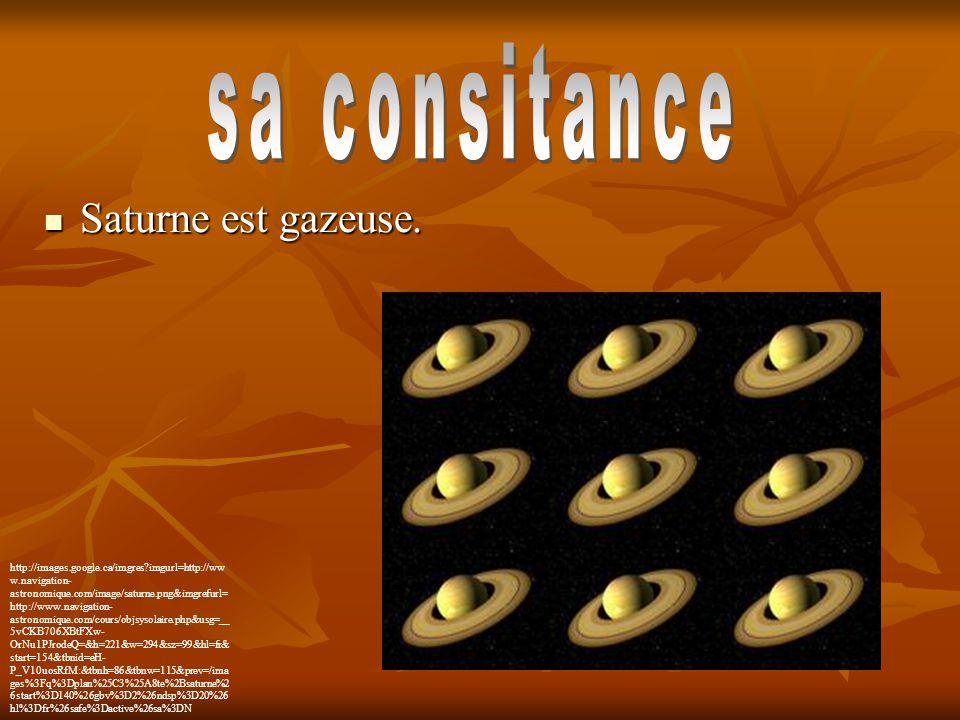Saturne est gazeuse. Saturne est gazeuse. http://images.google.ca/imgres?imgurl=http://ww w.navigation- astronomique.com/image/saturne.png&imgrefurl=