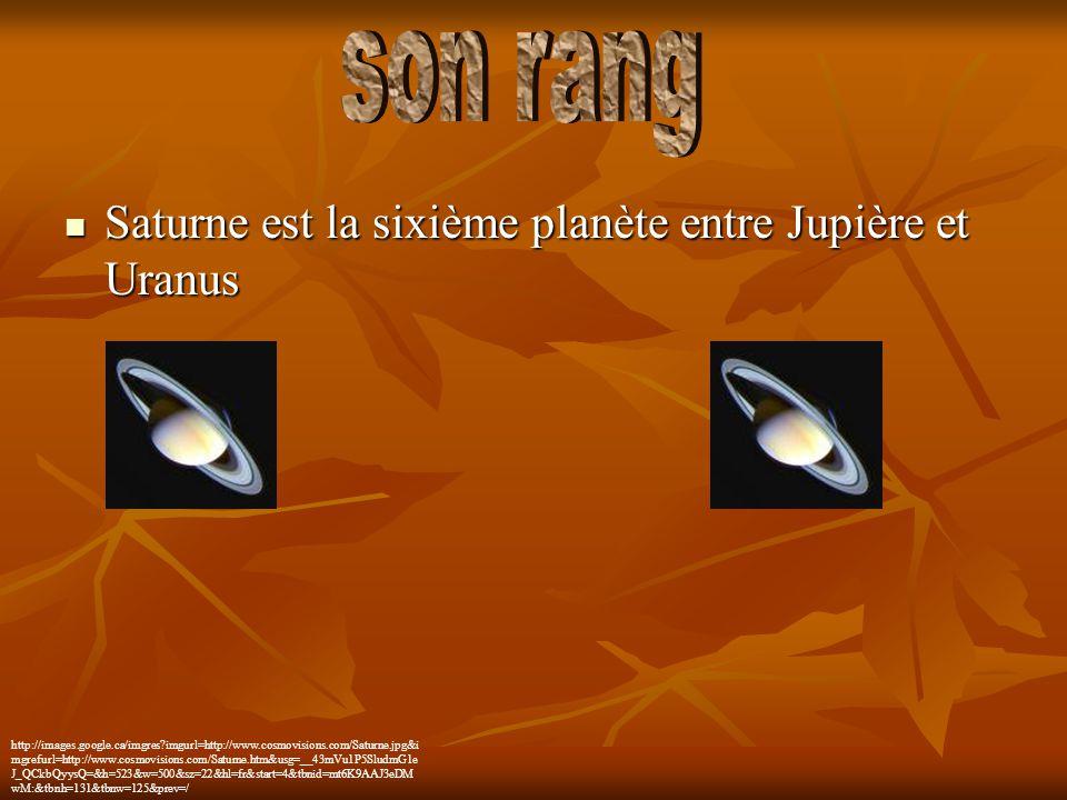 Saturne est la sixième planète entre Jupière et Uranus Saturne est la sixième planète entre Jupière et Uranus http://images.google.ca/imgres?imgurl=ht