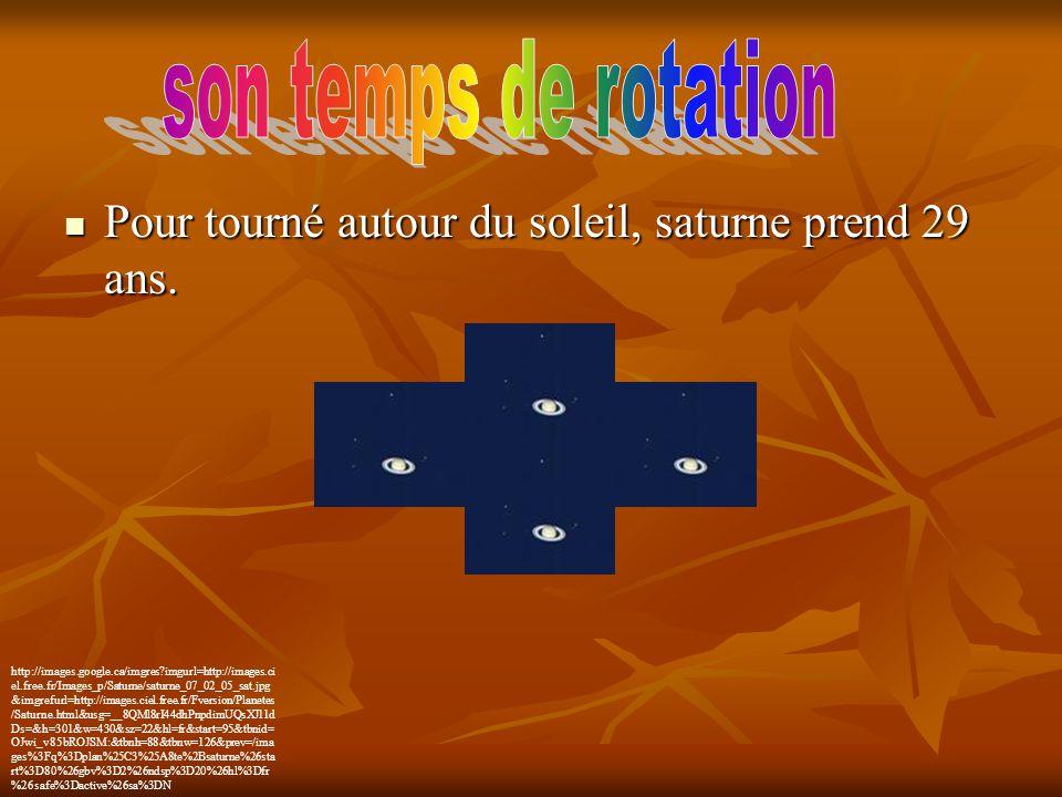 Pour tourné autour du soleil, saturne prend 29 ans. Pour tourné autour du soleil, saturne prend 29 ans. http://images.google.ca/imgres?imgurl=http://i