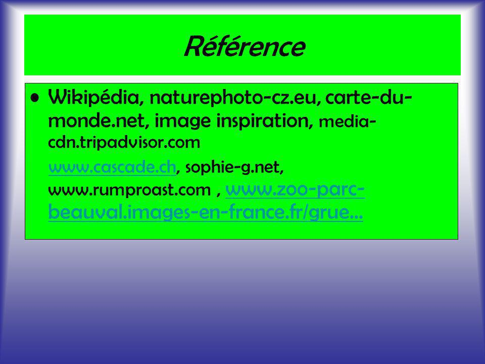 Référence Wikipédia, naturephoto-cz.eu, carte-du- monde.net, image inspiration, media- cdn.tripadvisor.com www.cascade.ch, sophie-g.net, www.rumproast
