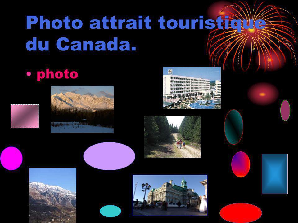 Photo attrait touristique du Canada. photo