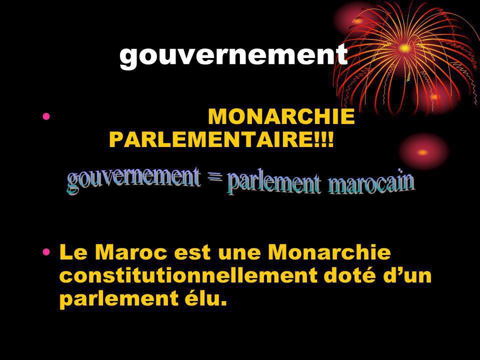 gouvernement MONARCHIE PARLEMENTAIRE!!.