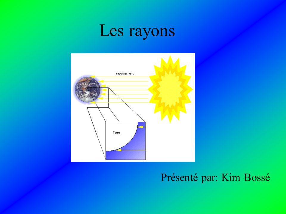 Les rayons Présenté par: Kim Bossé