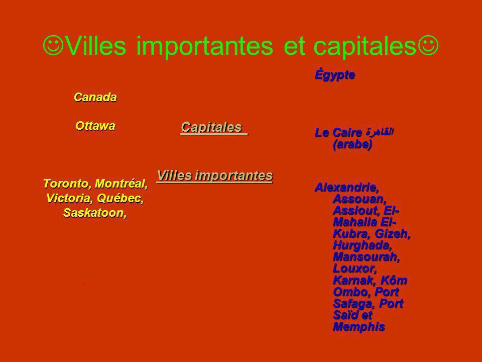 Situations géographiques Canada Égypte Situé en Afrique (Nord-est) et entouré de la Libye, lIsraël, la Jordanie, la mer Méditerranée, le Soudan et la