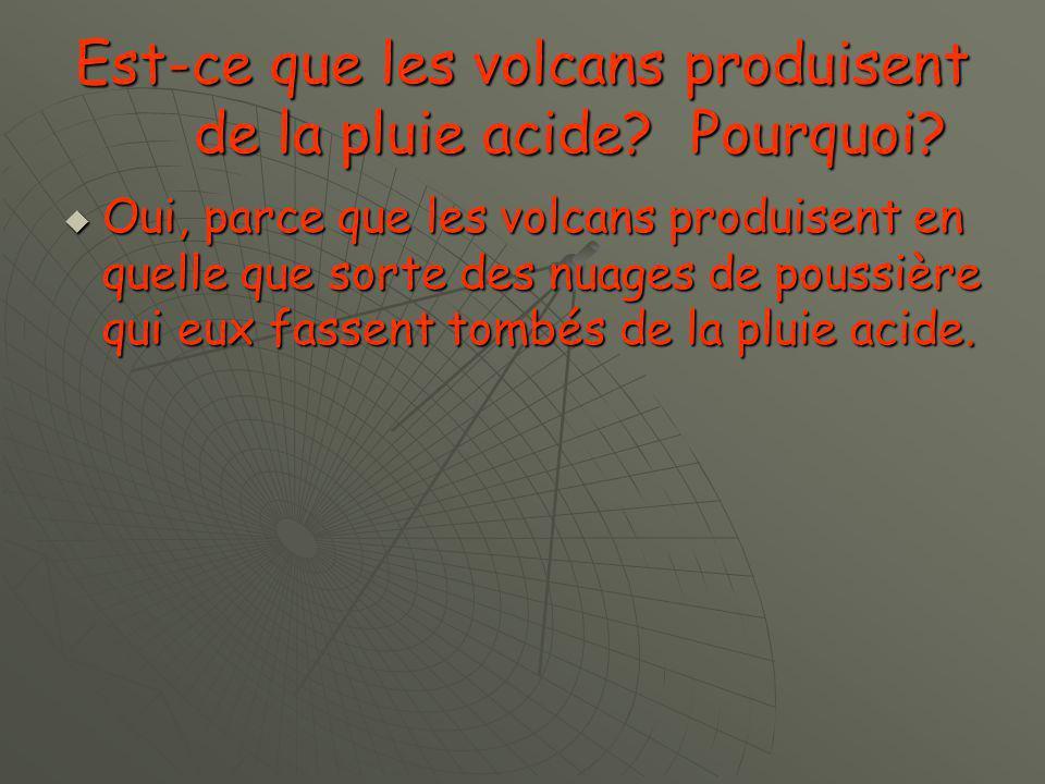 Est-ce que les volcans produisent des gaz.Si oui, lesquels.