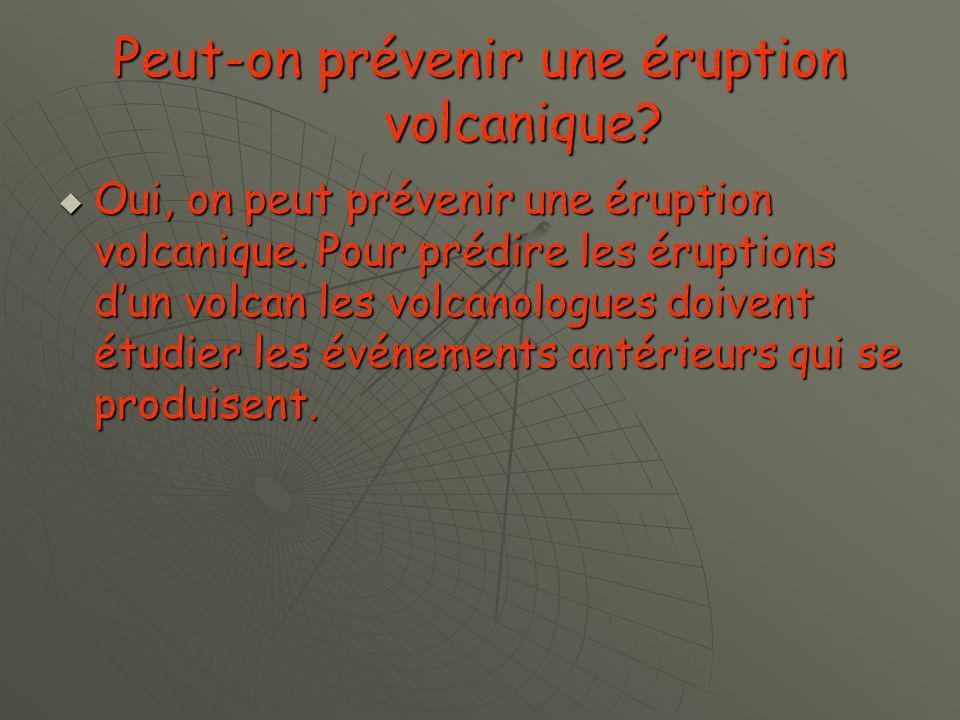 Les conséquences de léruption dun volcan.La végétation est détruit.