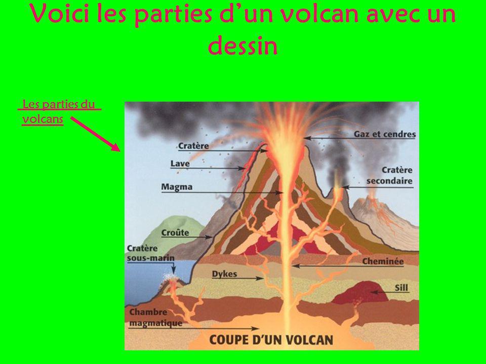 Voici les parties dun volcan avec un dessin Les parties du volcans