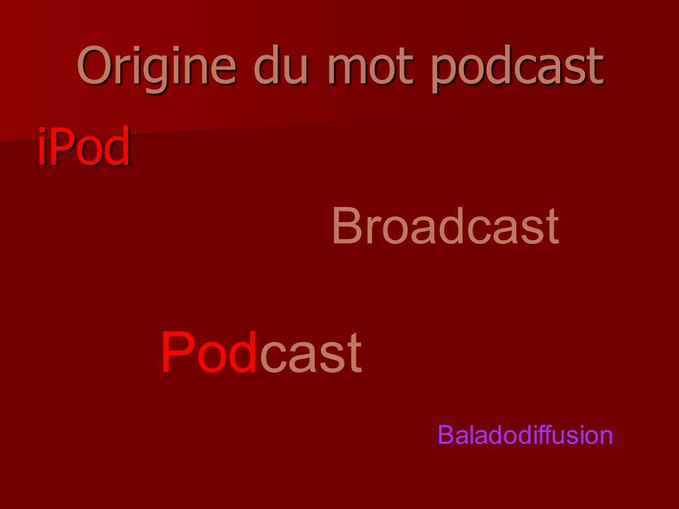 Origine du mot podcast iPod Broadcast Podcast Baladodiffusion