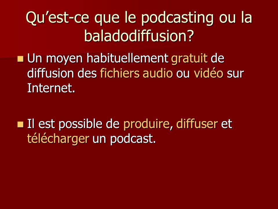 Quest-ce que le podcasting ou la baladodiffusion.
