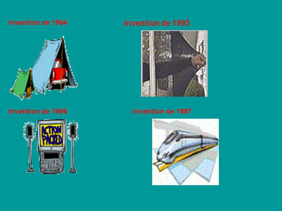 Invention de 1994 Invention de 1995 Invention de 1996Invention de 1997
