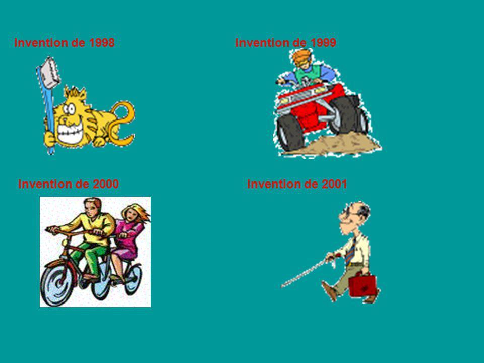 Invention de 1998Invention de 1999 Invention de 2000Invention de 2001