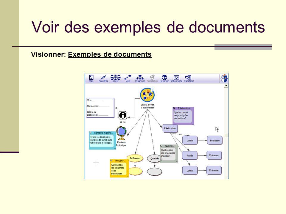 Voir des exemples de documents Visionner: Exemples de documents