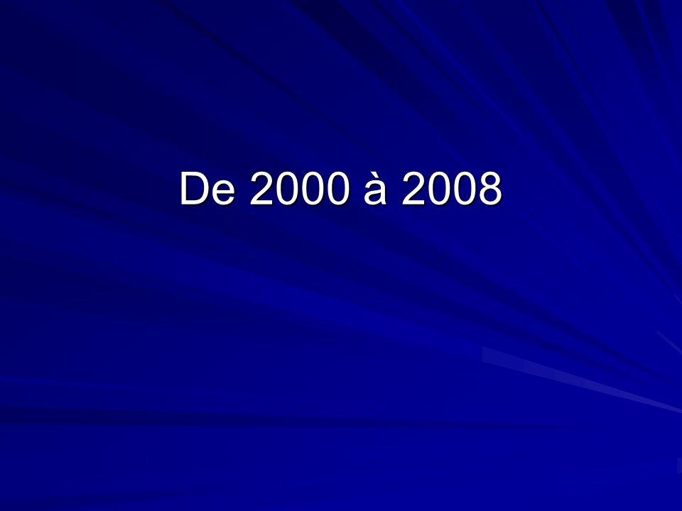 De 2000 à 2008