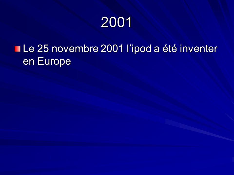2001 Le 25 novembre 2001 lipod a été inventer en Europe