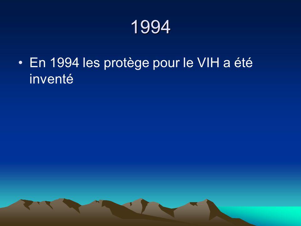 1994 En 1994 les protège pour le VIH a été inventé