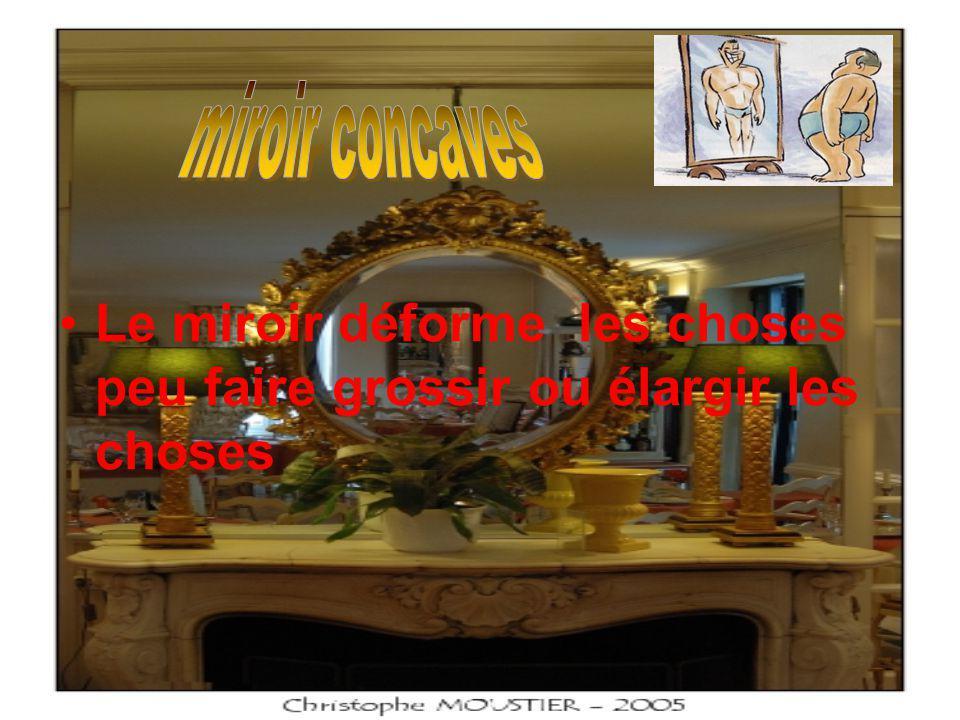 Miroir parabolique Un miroir parabolique est un miroir dont la forme est une portion de paraboloïde de révolution.