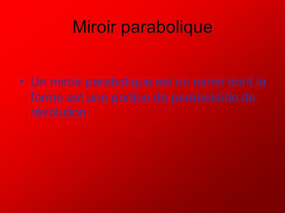 Un miroir sphérique est une portion de sphère réfléchissante.