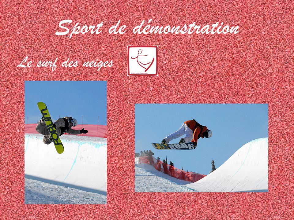 Sport de démonstration Le surf des neiges