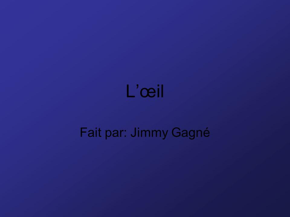 Lœil Fait par: Jimmy Gagné