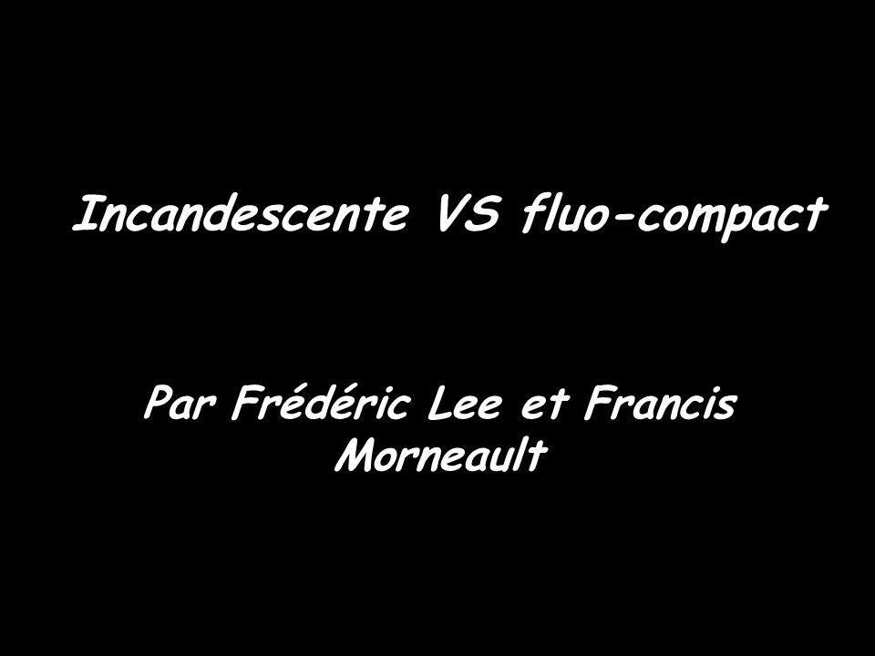 Incandescente VS fluo-compact Par Frédéric Lee et Francis Morneault
