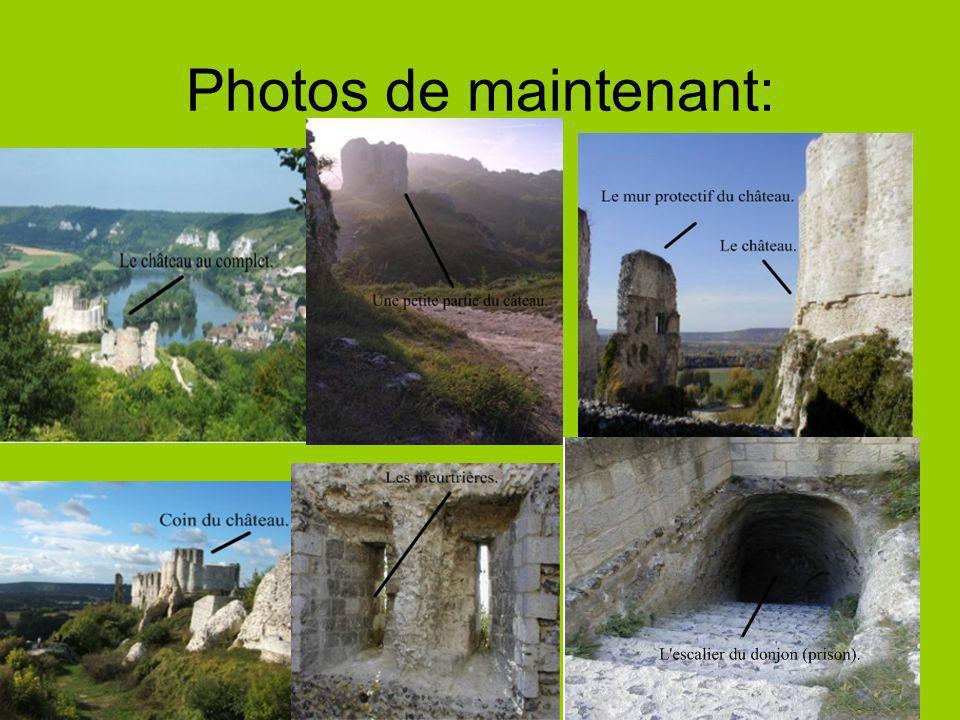 Photos de maintenant: