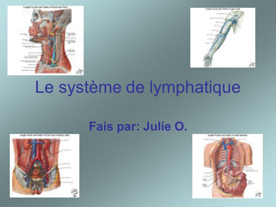 Le système de lymphatique Fais par: Julie O.