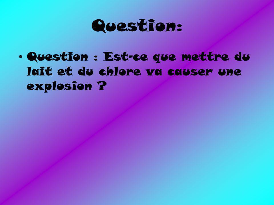 Expérience: Lait + chlore = ???