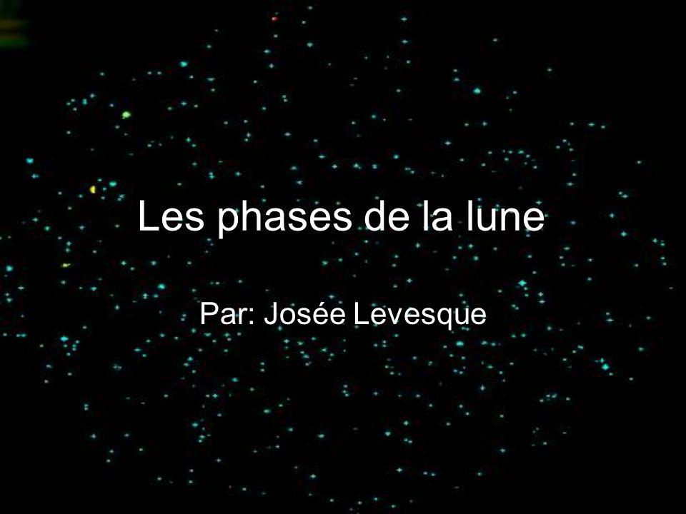 Les phases de la lune Par: Josée Levesque