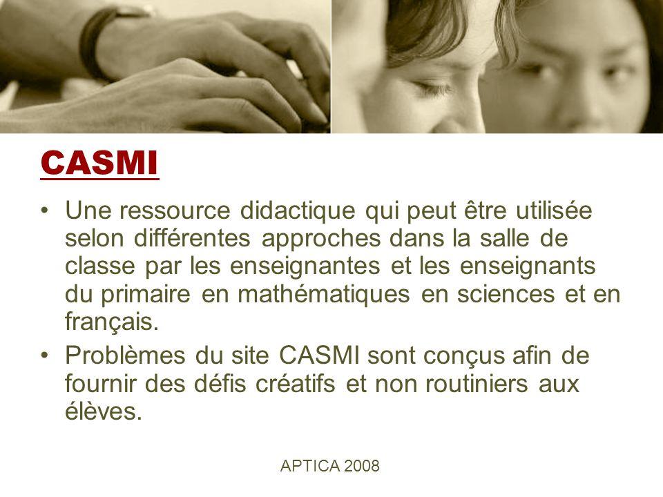 CASMI Une ressource didactique qui peut être utilisée selon différentes approches dans la salle de classe par les enseignantes et les enseignants du primaire en mathématiques en sciences et en français.