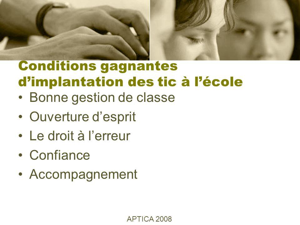 Exemples dimplantation des Tic Les Indispensable en Éducation Le web 2.0 Casmi Robotique Liens APTICA 2008