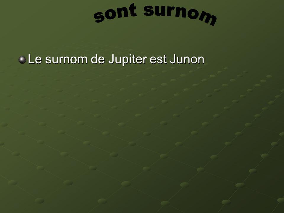 Le surnom de Jupiter est Junon