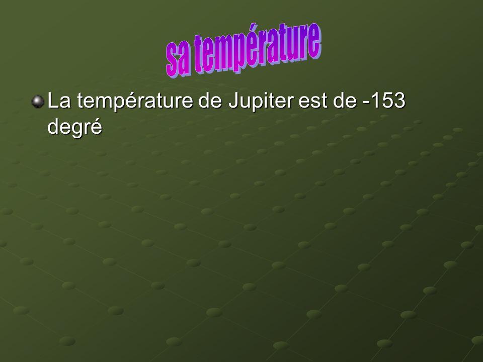 La température de Jupiter est de -153 degré
