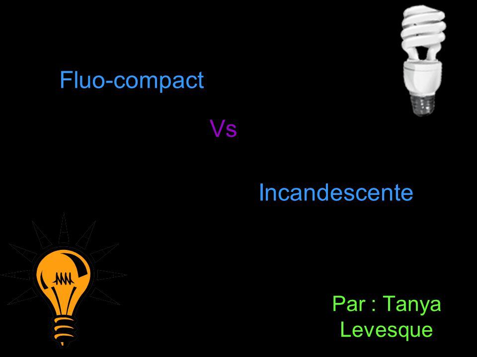 Par : Tanya Levesque Fluo-compact Vs Incandescente
