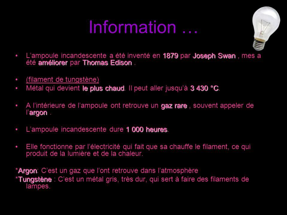 Information !...