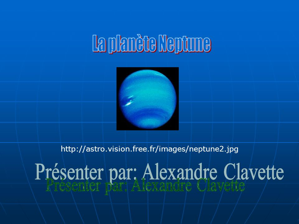 Son classement La planète Neptune est située entre Uranus et Pluton dans notre système solaire.