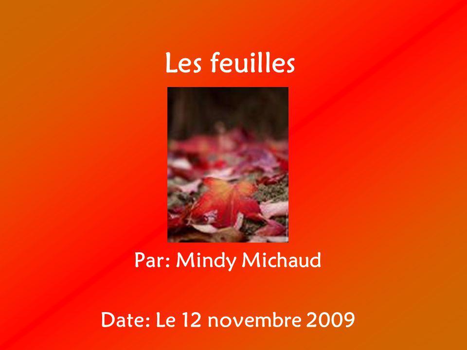 Les feuilles Par: Mindy Michaud Date: Le 12 novembre 2009