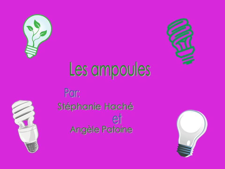 L e s a m p o u l e s Les ampoules fluo compacte sont-ils aussi écologique que nous pensons.