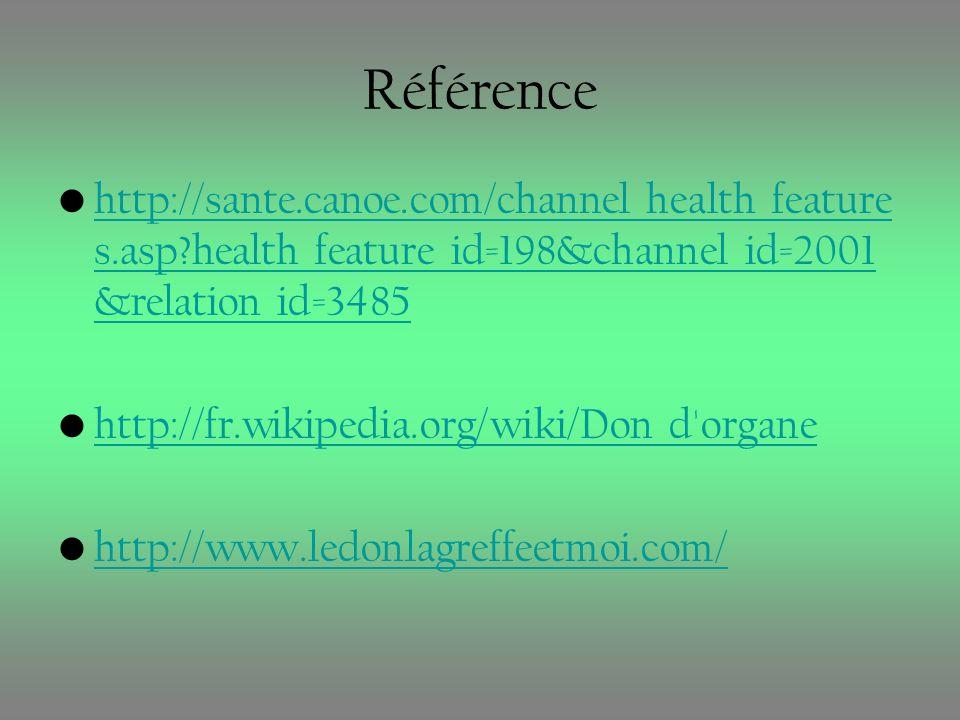 Référence http://sante.canoe.com/channel_health_feature s.asp?health_feature_id=198&channel_id=2001 &relation_id=3485http://sante.canoe.com/channel_he