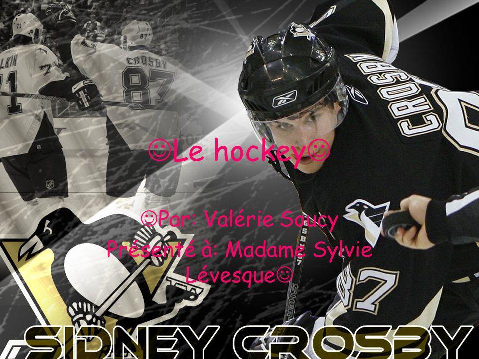 Le hockey Par: Valérie Soucy Présenté à: Madame Sylvie Lévesque