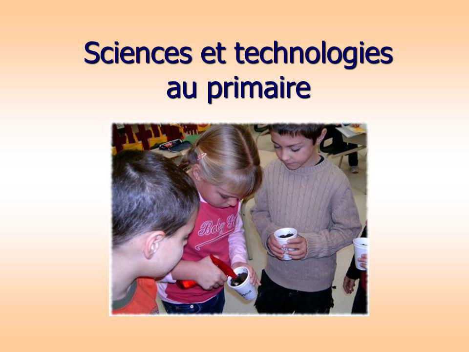 Sciences et technologies au primaire