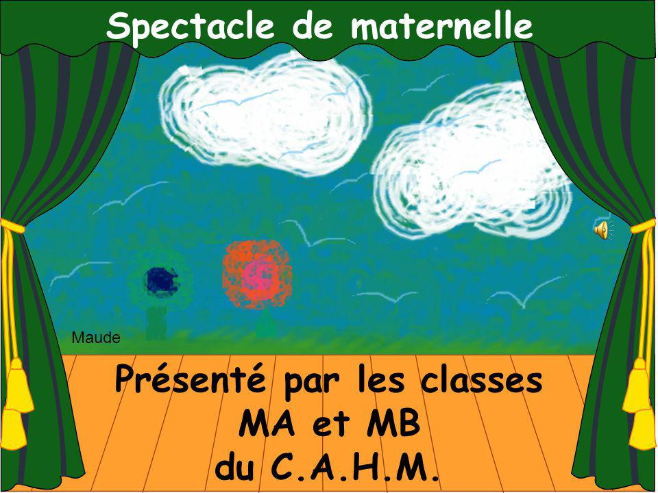 Spectacle de maternelle Présenté par les classes MA et MB du C.A.H.M. Maude