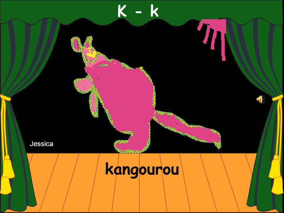K - k kangourou Jessica
