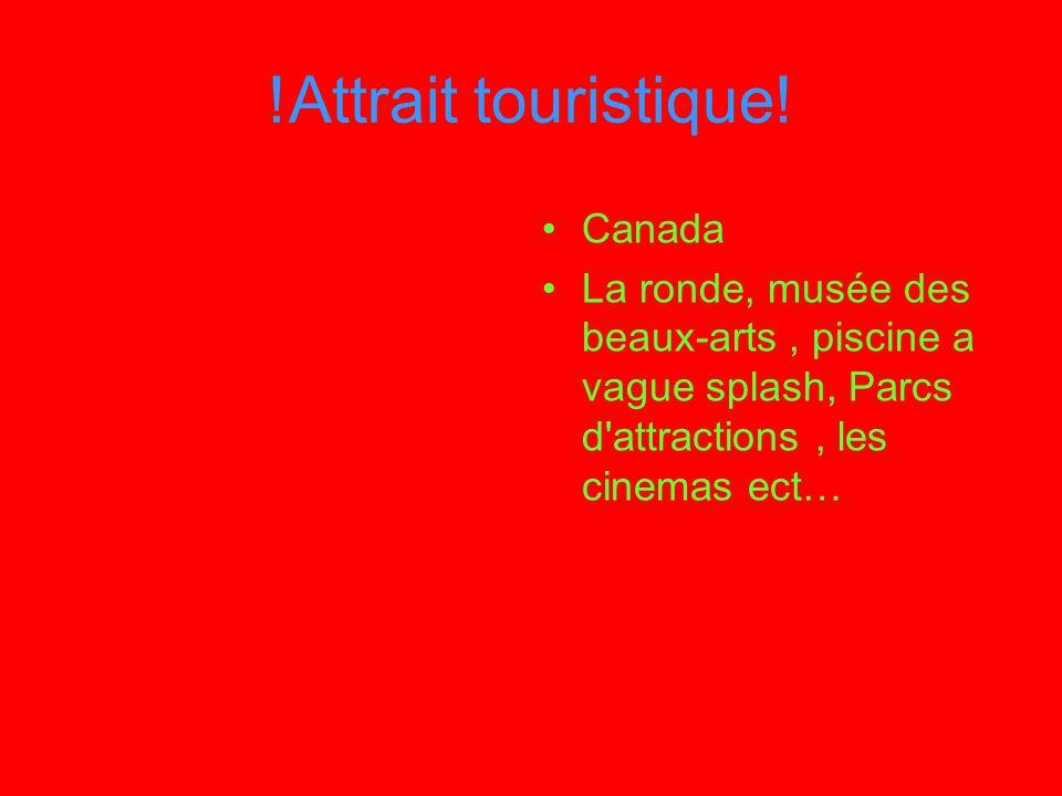 !Attrait touristique! Canada La ronde, musée des beaux-arts, piscine a vague splash, Parcs d'attractions, les cinemas ect…