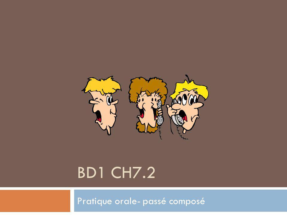 BD1 CH7.2 Pratique orale- passé composé