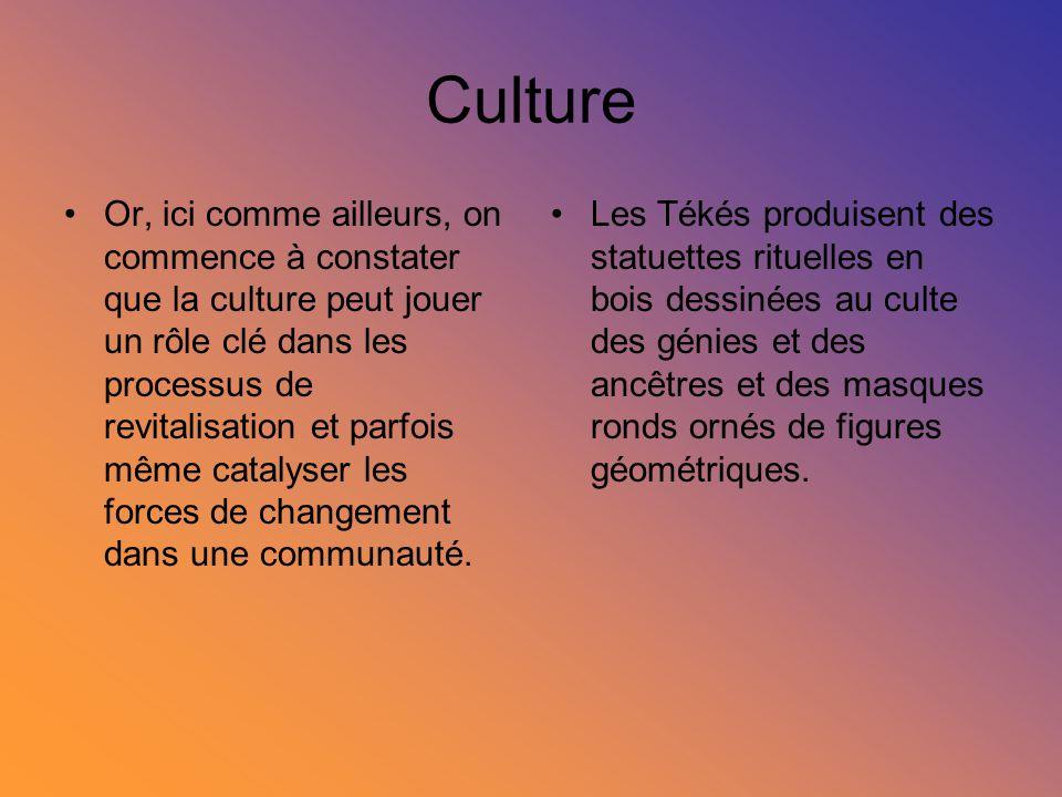 Culture Or, ici comme ailleurs, on commence à constater que la culture peut jouer un rôle clé dans les processus de revitalisation et parfois même cat