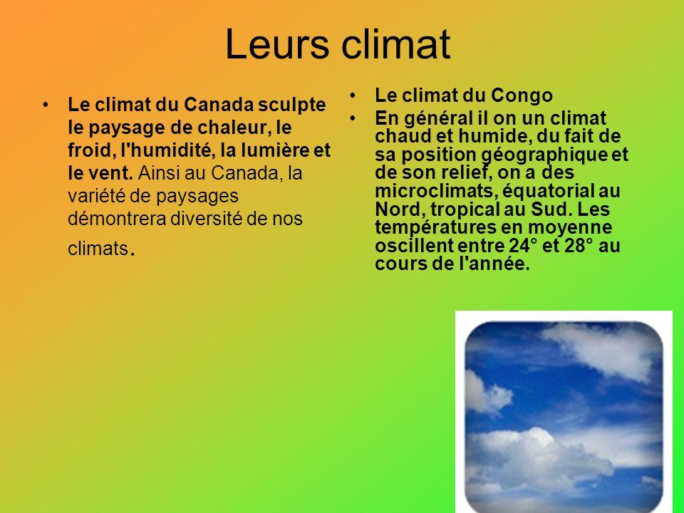 Leurs climat Le climat du Canada sculpte le paysage de chaleur, le froid, l'humidité, la lumière et le vent. Ainsi au Canada, la variété de paysages d