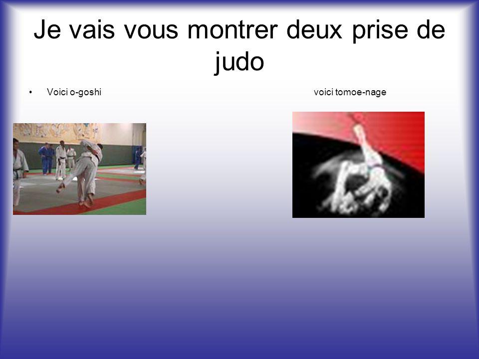 Voici toute les ceintures en ordre Que le judo est le troisième sport nationaux. 1 2 3 4 5 6 7