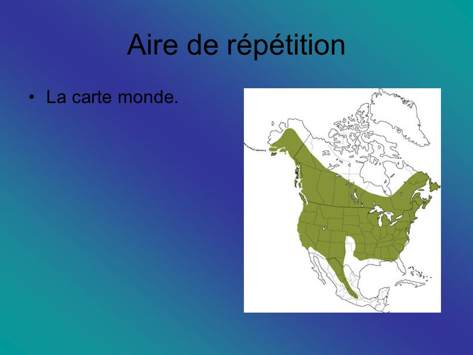 Aire de répétition La carte monde.